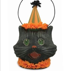 Vintage Style Halloween black cat